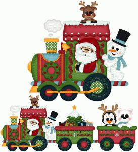 Silhouette Design Store - View Design #71917: santa express christmas train pnc