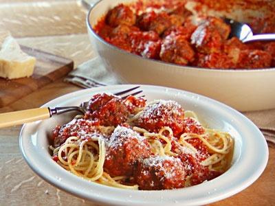 Spaghetti and meatballs recipe ground pork