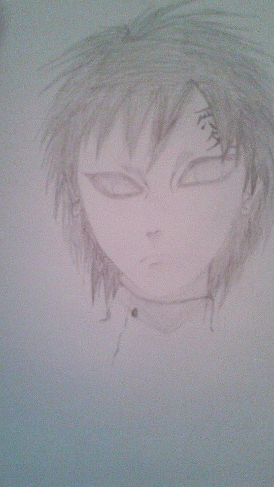 I thought of drawing Gaara so yh Do you like him?:D I think he is good but I have to fix the hair xP