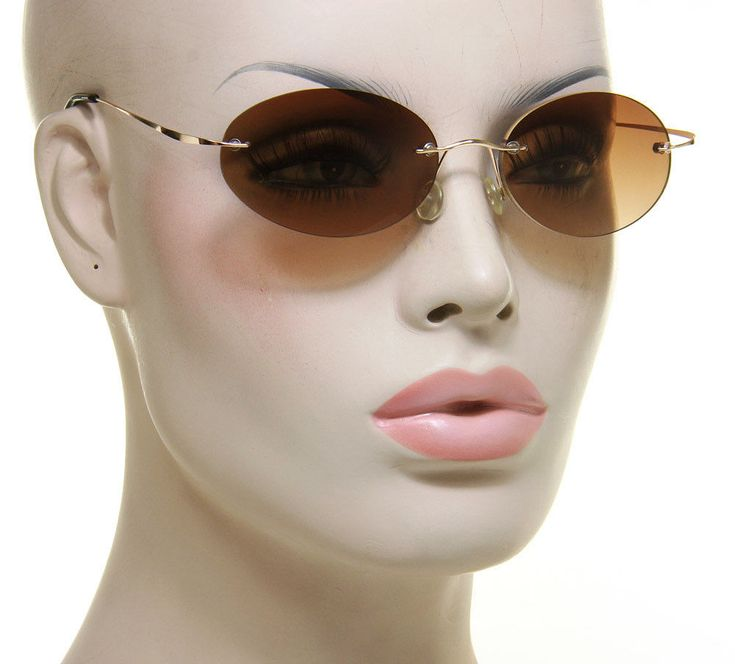 Oval Women Sunglasses Vintage Fashion Rimless Elegant Retro Designer Style #Unbranded #Oval