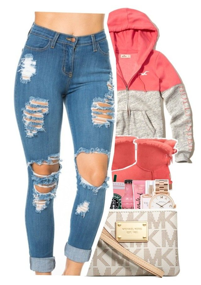 """Dec.16, 2016"" by uniquee-beauty ❤ liked on Polyvore featuring Hollister Co., UGG Australia, Victoria's Secret, Marc by Marc Jacobs and Michael Kors"