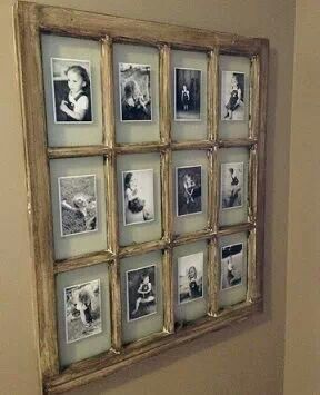 Upcycle an old window frame