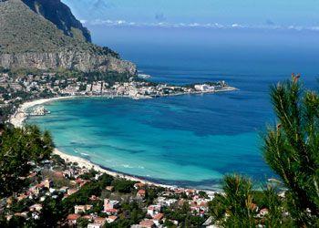 Mondello Beach, Sicily - I traveled here in 1992...pure paradise!