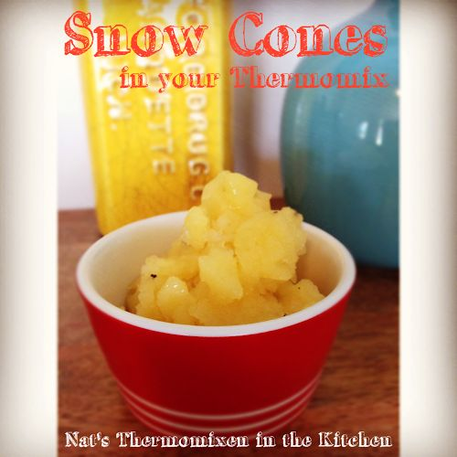 Snow Cones in your #Thermomix!