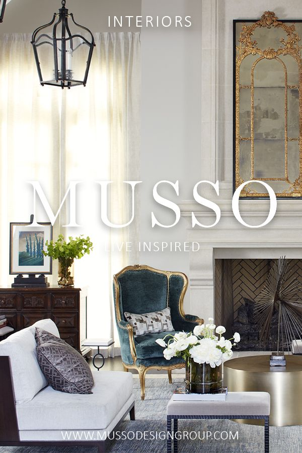 Interior design services offered by MUSSO are