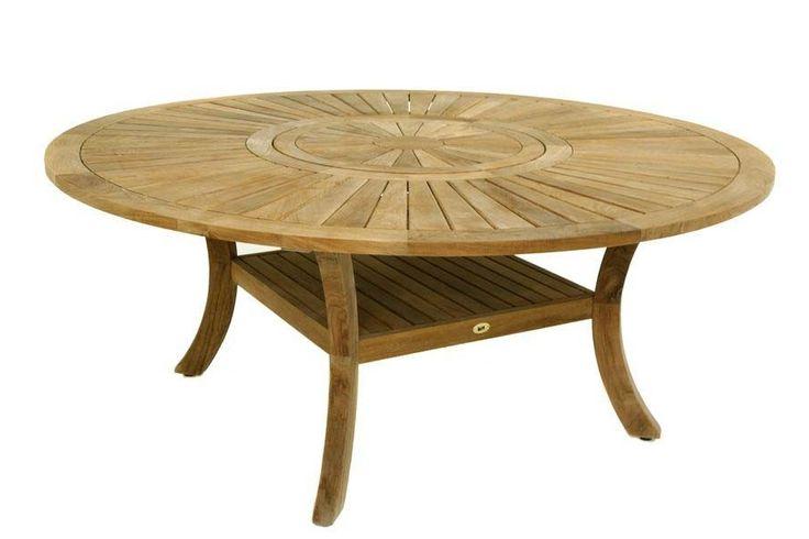 Table Ronde Teck Massif C 39 Est A Que Je Voulais Meubles Pinterest Furniture Coffee