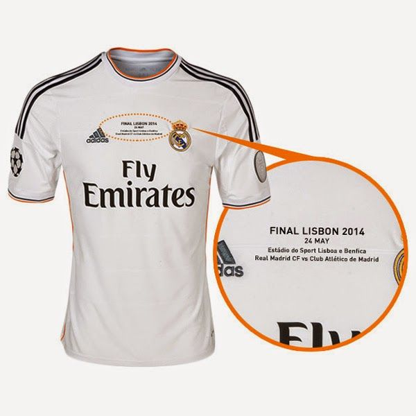Camiseta del real madrid final champions 2014