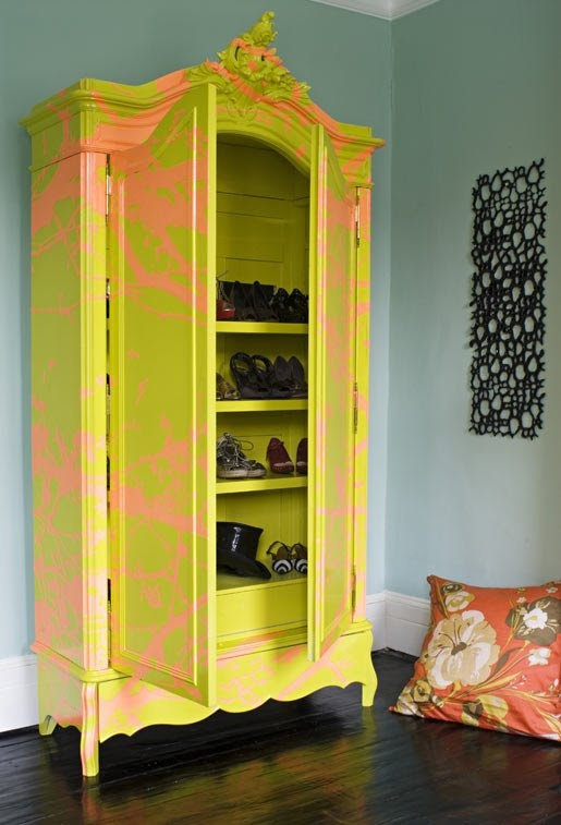 Chartreuse Armoire By Burke And Hazelden