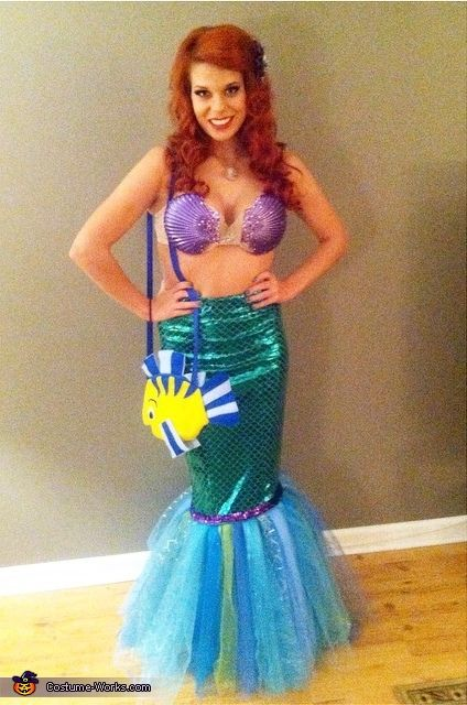 Sarah: My name is Sarah Harley and for Halloween this year I dressed up as Ariel from The Little Mermaid. The idea came from an accidental dye job to my hair...
