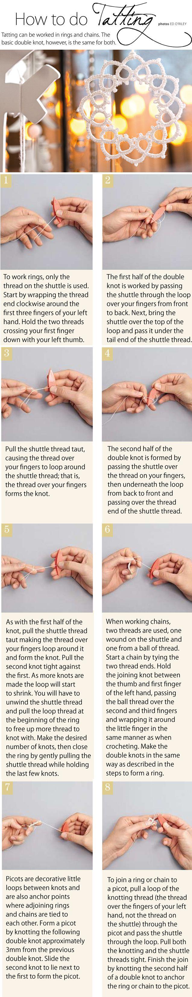 How to do tatting
