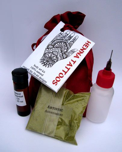 Henna Kits : Artistic Adornment, Henna Supplies - henna tattoo kits, henna powder, professional mehndi supplies