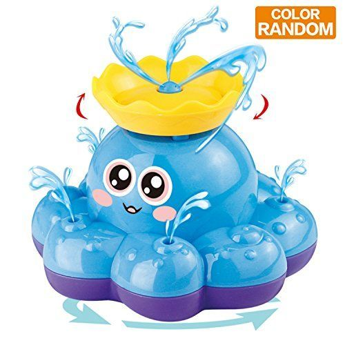 Bath Toy, Spray Water Octopus (Ramdom Colour), Can Float Rotate With Fountain, Funcorn Toys Floating Bathtub Shower Pool Bathroom Toy For Baby Toddler Infant Kid Party, Water Pump Electronic Sprayer. For price & product info go to: https://all4babies.co.business/bath-toy-spray-water-octopus-ramdom-colour-can-float-rotate-with-fountain-funcorn-toys-floating-bathtub-shower-pool-bathroom-toy-for-baby-toddler-infant-kid-party-water-pump-electronic-sprayer/