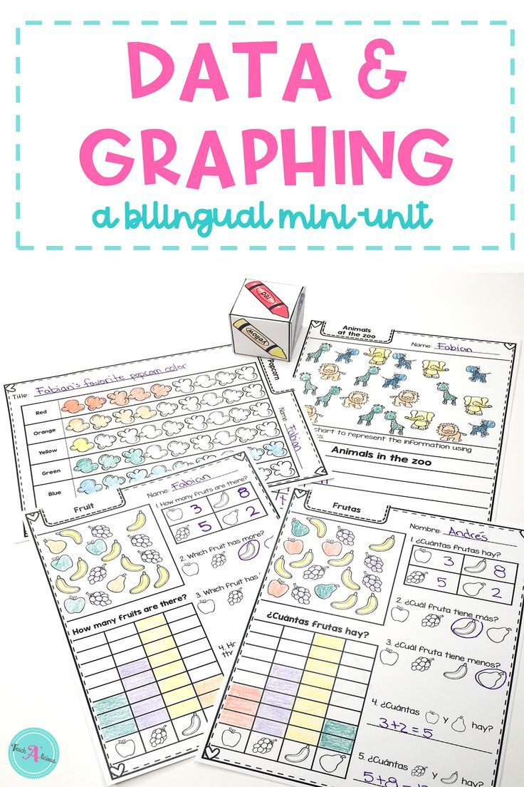 Data and Graphing Mini-Unit | Print & Go Bilingual Worksheets | A+ ...