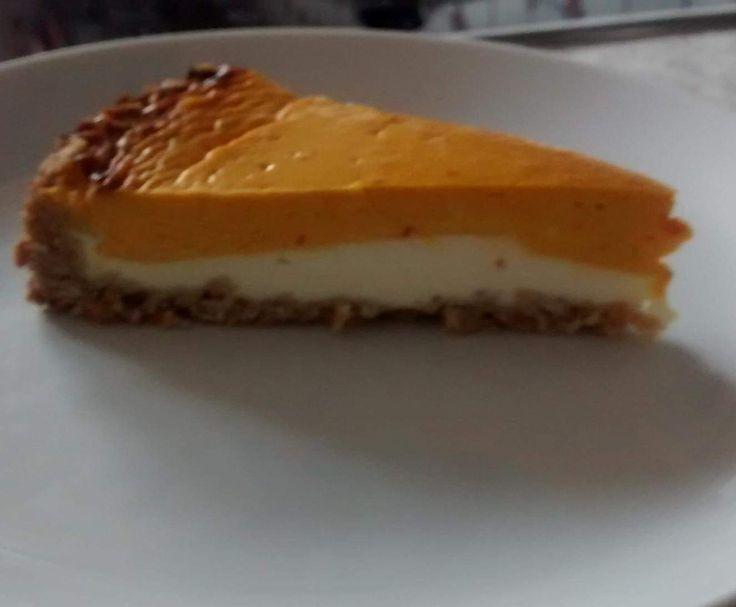 Pumpkin Cheescake aus den USA (Kürbis-Käse-Kuchen)