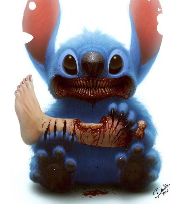 Stitch et sans doute la jambe de Lilo