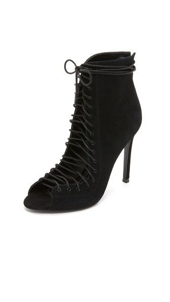 KENDALL + KYLIE Ginny Lace Up Heels in Black - $199