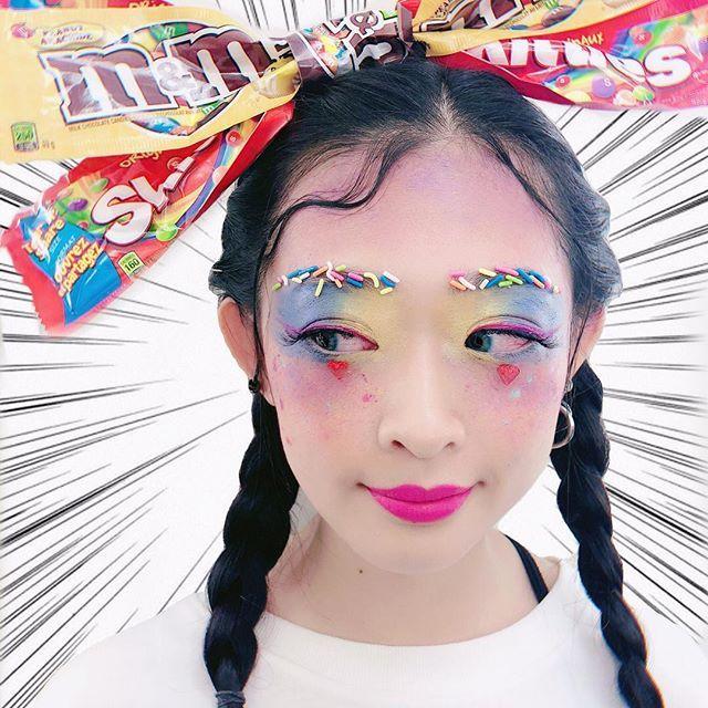 #20181115 My Chocolate Girl🍫  It's fantasy day🦄 Makeup by @qubeho  即興做的頭飾🎀我自己覺得好滿意😂🍫 Thank you my partner @jhux_irene.tw 's performance. #qubehomakeup #makeup #makeupartist  #makeupartistsworldwide #makeuptutorial #makeupvideos #makeupartis #macau #vancouver #eye #eyemakeup  #eyemakeupideas #eyeshadow  #makeuplooks #holidaymakeup #fullmakeup #maccosmetics #makeupforever #澳門化妝師 #溫哥華化妝師 #fantasy #chocolate #fantasymakeup #chocolategirls #cosmetics #fantasyday #skittles #mandms #blanchemacdona