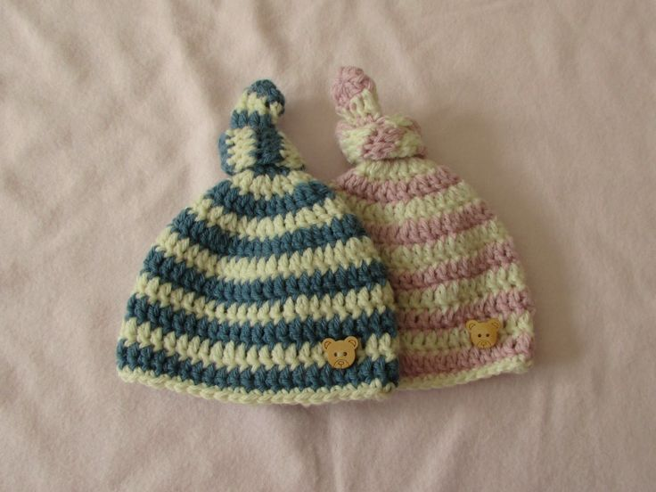 Crochet Patterns For Baby Hats For Beginners : VERY EASY crochet baby knot hat. beanie - crochet hat for ...