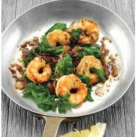 Crevettes au gingembre et sauté de chou frisé (kale)   Cuisine du Québec.com