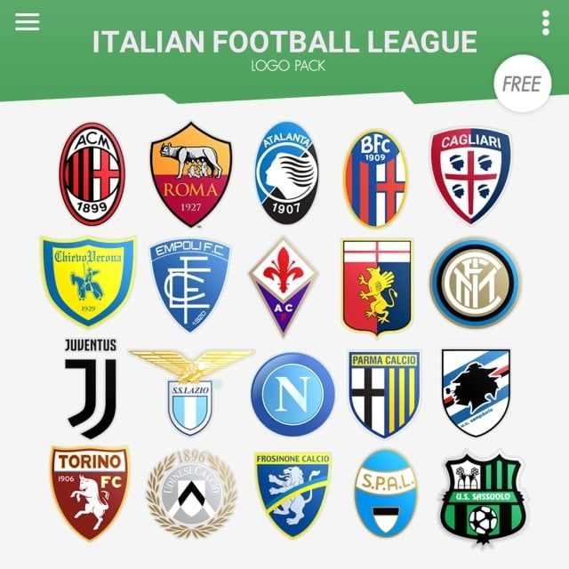 Italian Football League Logo Pack Italy Italian Calcio Serie A Png Transparent Clipart Image And Psd File For Free Download In 2020 Italian Football League Football League Football