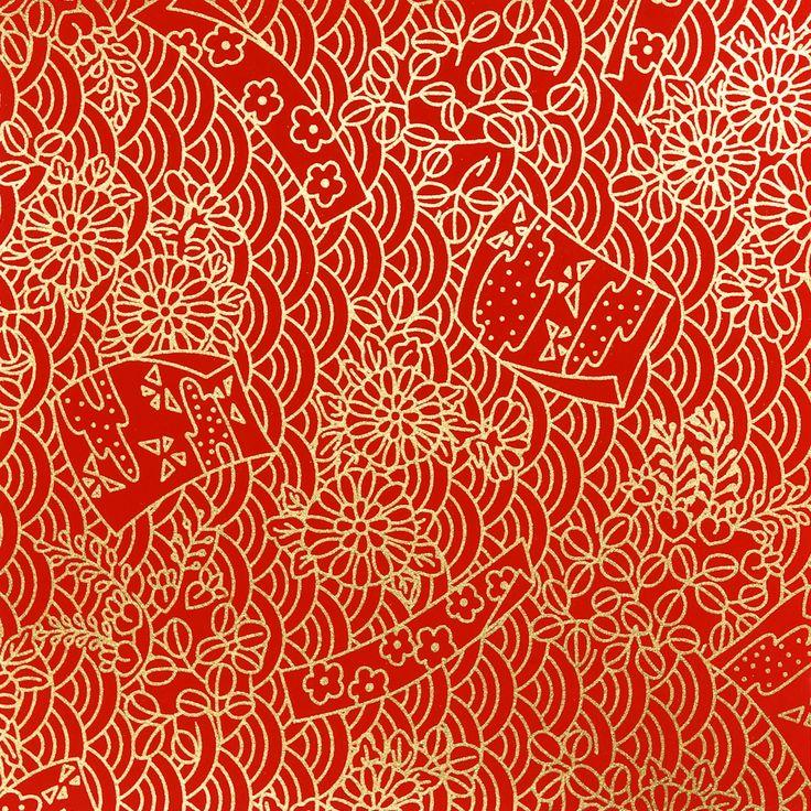 311. Chiyogami papír Gramáž: 70g/m2 Fotografie je pořízena z formátu 14 x 14cm Upozornění: archy jsou nařezány z velkých formátů, proto se rozložení motivu na menších arších může kus od kusu lišit. Dostupné formáty: 14 x 14cm - 13Kč/arch 14 x 28cm - 24Kč/arch 28 x 40cm - 69Kč/arch 40 x 54cm - 135Kč/arch ...