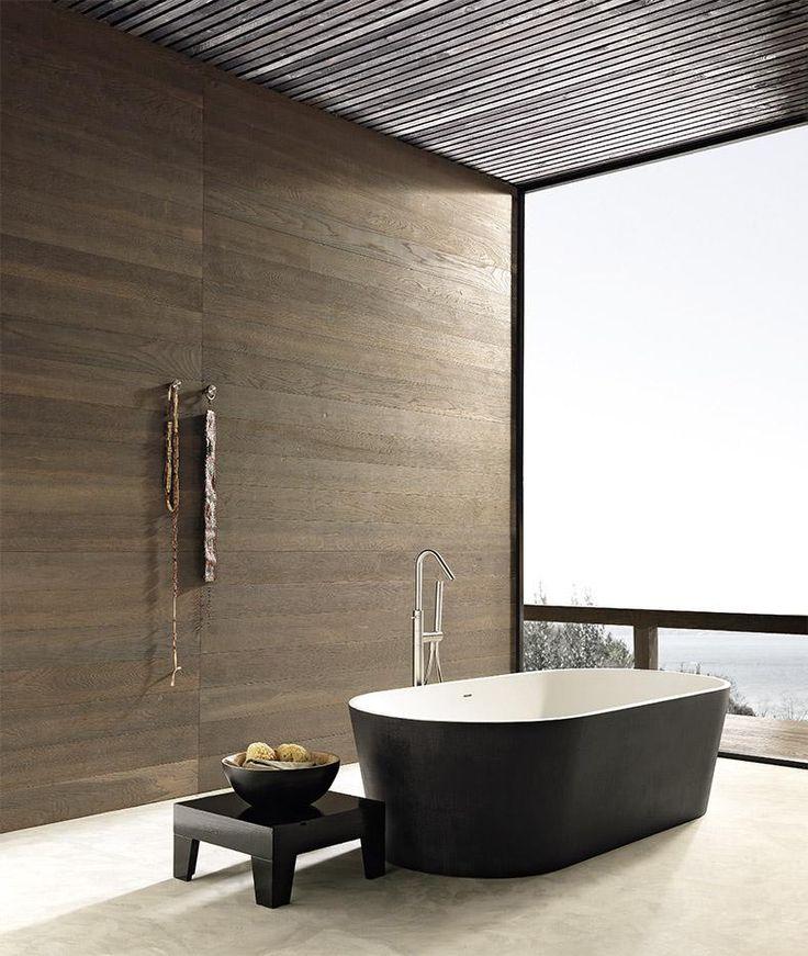 Blade black Bath Tub #design #interiordesign