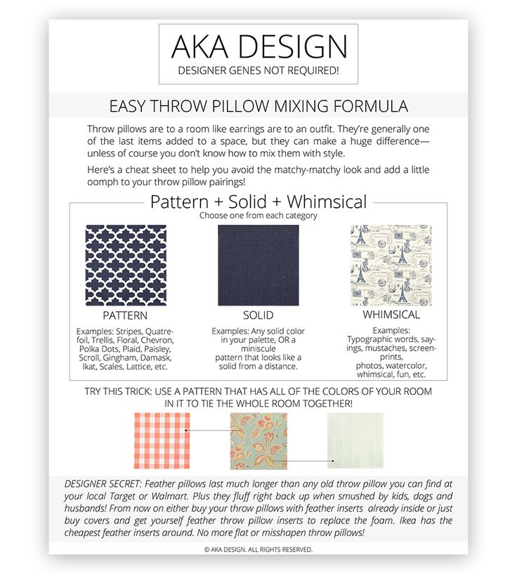 How To Mix Throw Pillows and Patterns With Style via @akadesigndotca
