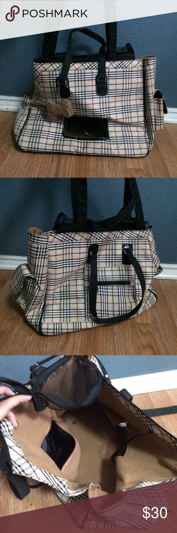 Plaid Pet Bag Plaid dog carrier perfect for carrying around small breeds like chihuahuas, yorkies, pomeranians, etc. Features 3 pockets (2 on the outside, 1 on the inside). Cute design gives it a classy look that's perfect for all seasons. Bought it a while back and used it when my baby girl was a little pug puppy.  💟 I'm a trusted seller and a fast shipper - I ship same day! 💟 Prices are negotiable but I don't trade! I'm reasonable, I don't block/shut down offers! 💟 Bundle to save on…