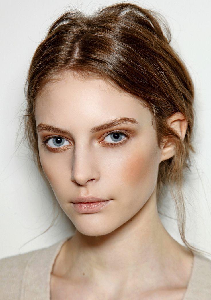 peachy bronze pale skin