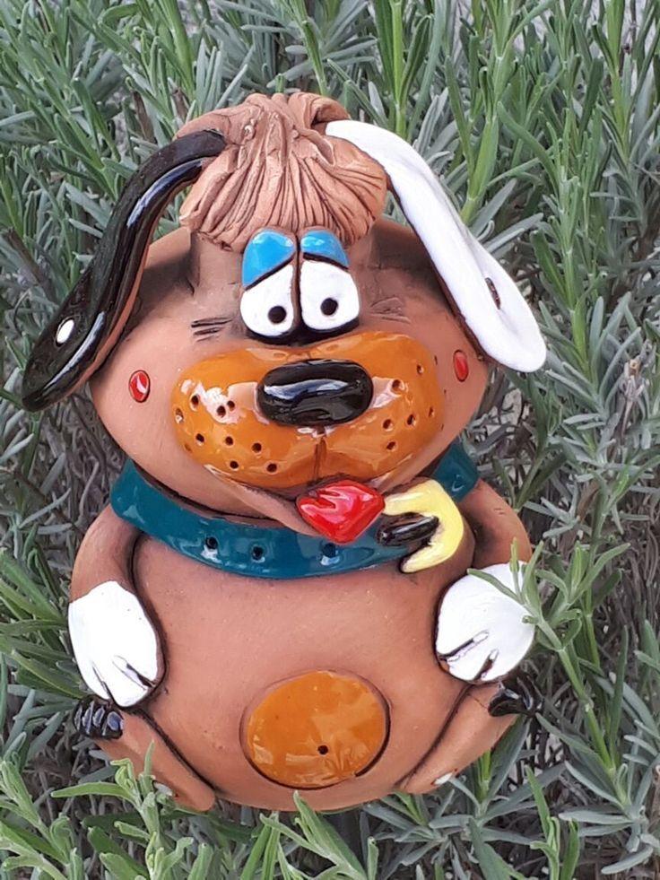 Garten Kugel Keramik Dekoration Figur Igel Handarbeit