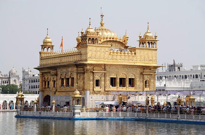 2-Day Private Tour of Amritsar from Delhi by Train Explore the Amritsar countryside and monuments in this two-day tour from Delhi. You'll visit the Golden Temple, the spiritual center of the Sikh faith; the Jallianwala Bagh Memorial, an important monument dedicated to the martyrs of the Jallianwala Bagh massacre in 1919; the Durgiana Temple, which sits in the middle of a sacred lake; and an evening visit to the India/Pakistan border for the traditional changing of the guard.D...
