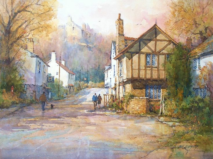 Ian Ramsay Watercolors - Near Dunster, Somerset, England