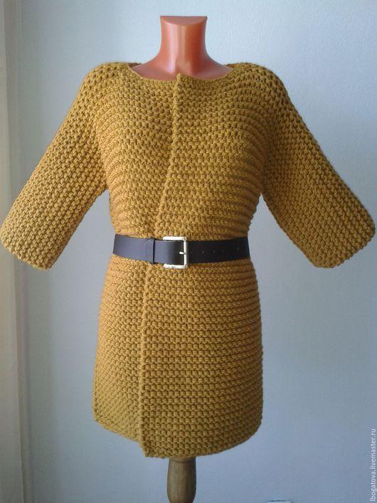 Кофты и свитера ручной работы. Кардиган кимоно крупной вязки