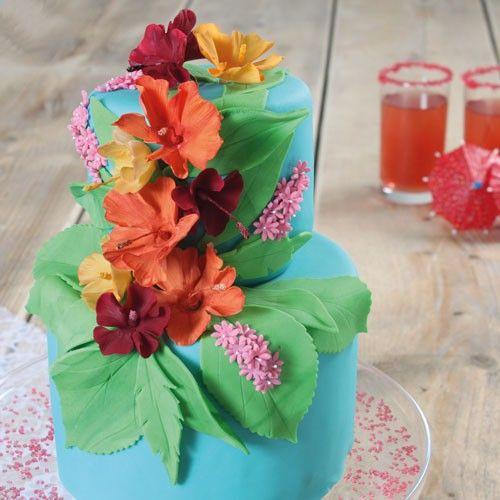 Recept: Hawaiiaanse bloemen taart - Taart - Recepten  | Deleukstetaartenshop.nl | Deleukstetaartenshop.nl