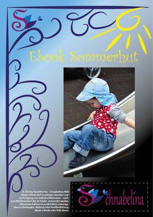 Schnabelina Sommerhut Freebook,auch ohne Nackenschutz machbar