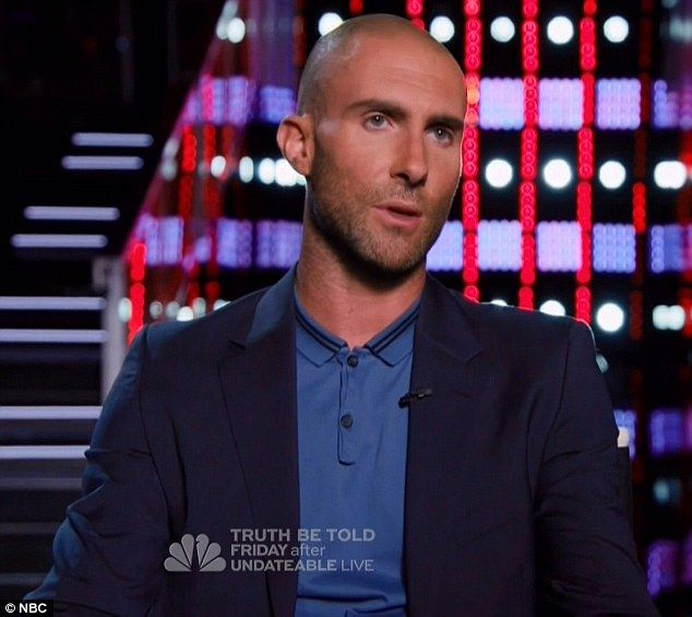 'The Voice': Blake Shelton Hilariously Mocks Adam Levine's Shaved Head - http://blog.clairepeetz.com/the-voice-blake-shelton-hilariously-mocks-adam-levines-shaved-head/