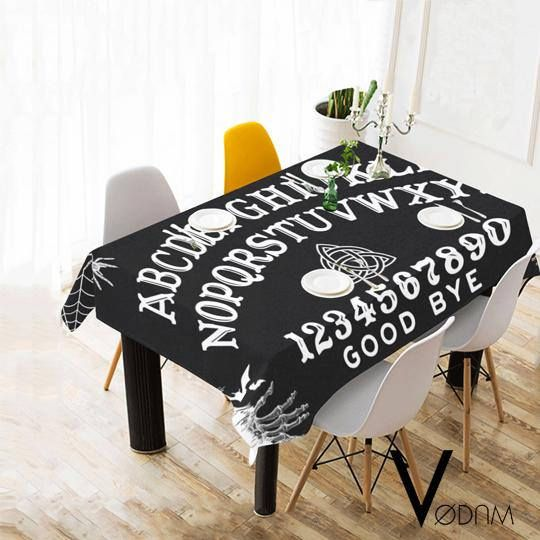 OUIJA Table Cloth Gothic Pagan Sweet Bones Black Dark