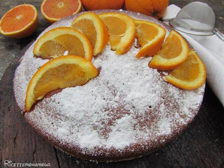 Torta+all'arancia+senza+latte,+burro+e+olio