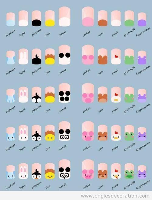 Les 25 meilleures id es concernant dessins d 39 ongles sur - Vernis a ongle original et facile a faire ...
