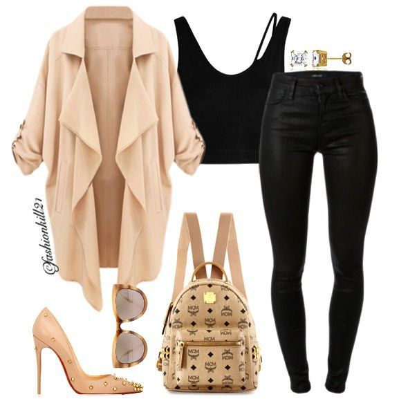 AirPlane Flow DETAILS: Lapel #Lookbookstore Top #Helmutlang #Jeans #Jbrand Earrings #Berricle Sunglasses #Intermixonline.com Backpack #Mcm Shoes #Christianlouboutin #Styledbyfashionkill21