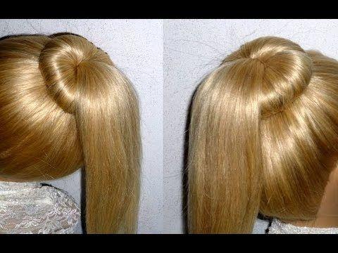 Easy Frisuren:Dutt mit Duttkissen machen für mittel/langes Haar. Ponytail Hairstyle.Peinados - YouTube
