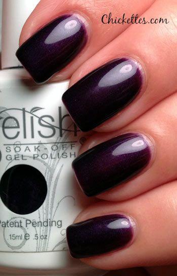 Gelish Night Reflection Swatch- great Fall Winter gel nail polish option.