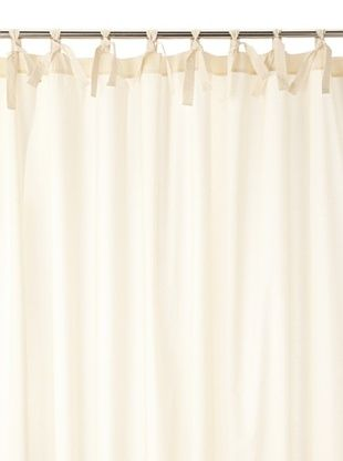 Coyuchi Pin Tuck 300 Percale Shower Curtain, Ivory