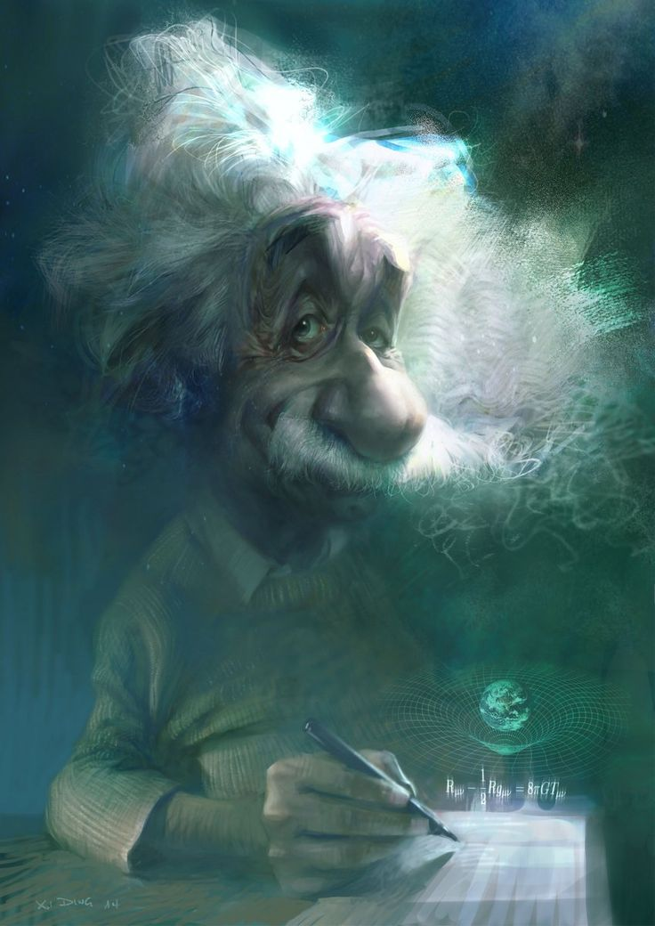 Albert Einstein by Xi Ding | Caricature | 2D | CGSociety