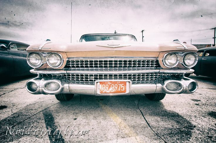 One 12x18 inch Pink Cadillac Poster, Classic Hot Rod Garage Art Unframed