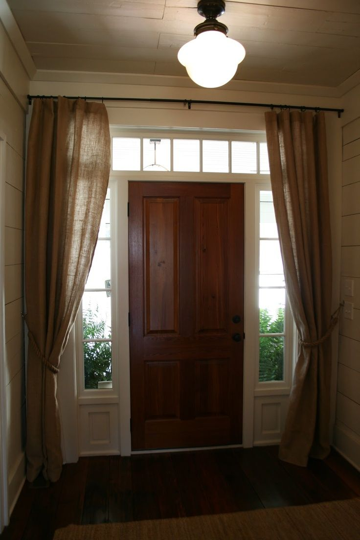 Front door sidelight curtains - Front Door Sidelight Curtains More
