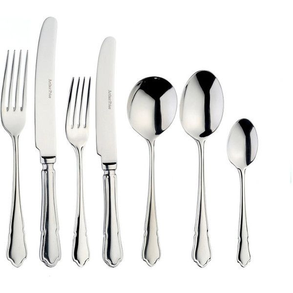 ARTHUR PRICE Dubarry stainless steel six people 24-piece cutlery set ($150) ❤ liked on Polyvore featuring home, kitchen & dining, flatware, stainless steel dessert spoons, stainless steel flatware, stainless utensils, stainless steel cutlery set and stainless steel silverware