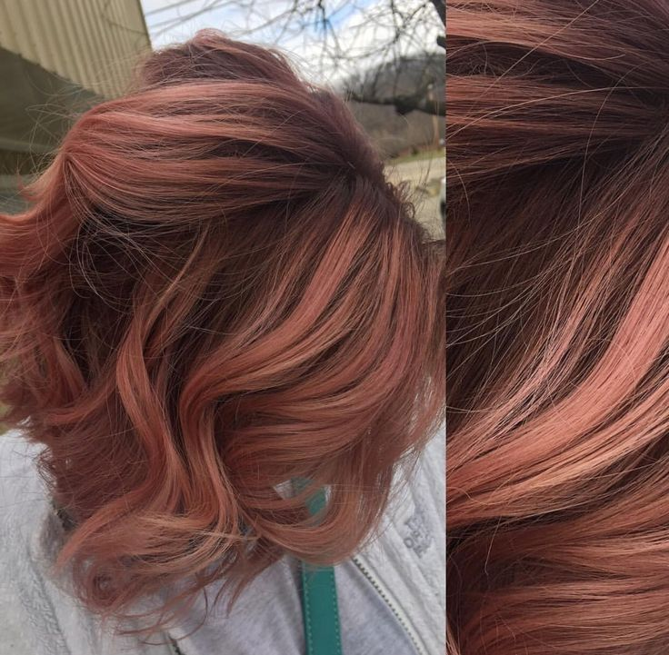 image result for rose gold hair brunette angled bob my