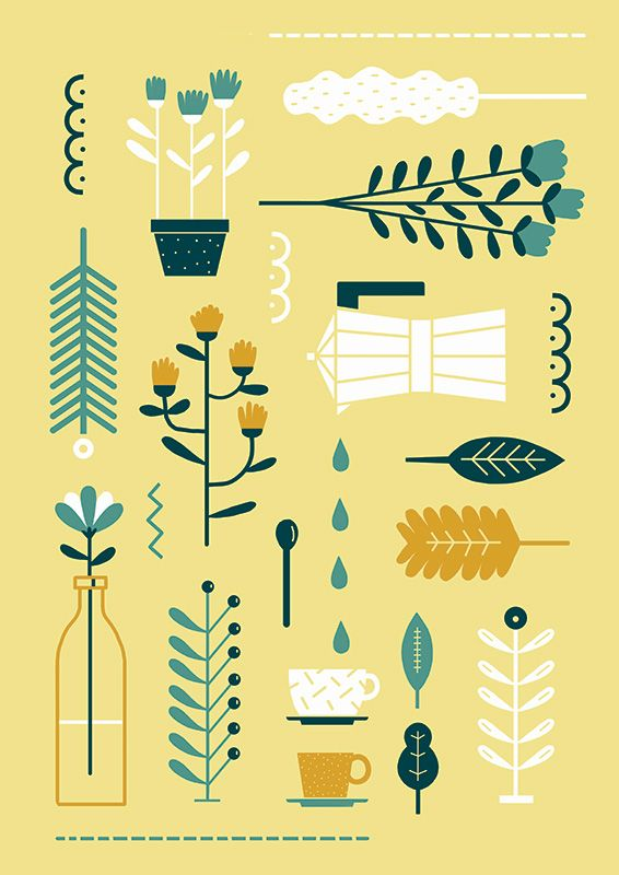 #illustration #anaseixas #newdivision #icons #graphic #coffee #flowers