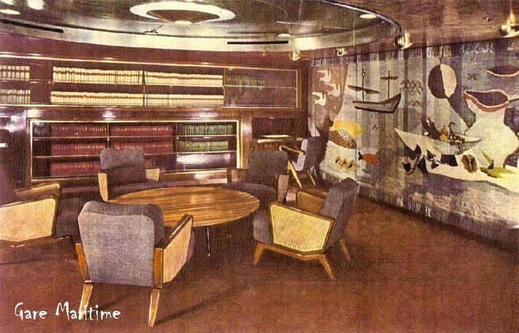 1st Class Library, Andrea Doria | ANDREA DORIA | Pinterest ...